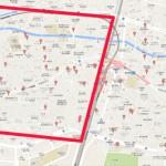 高田馬場の駐車場MAP その2(線路の西側)