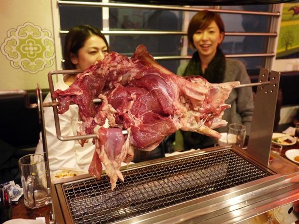 羊もも肉のあぶり焼き